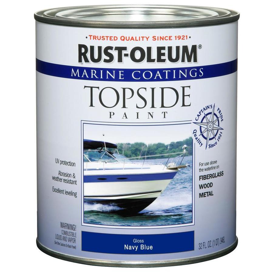 Rust Oleum Marine Coatings Navy Blue Gloss Enamel Oil Based Paint Actual