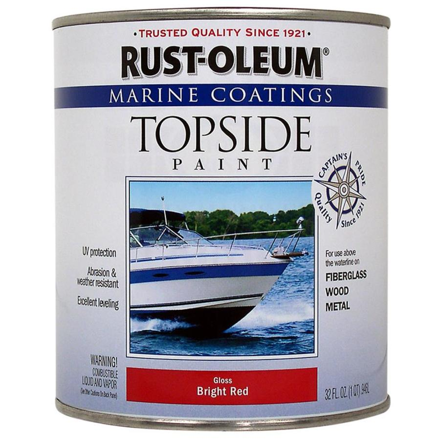 Rust-Oleum Marine Coatings Bright Red Gloss Enamel Oil-Based Marine Paint (Actual Net Contents: 32-fl oz)