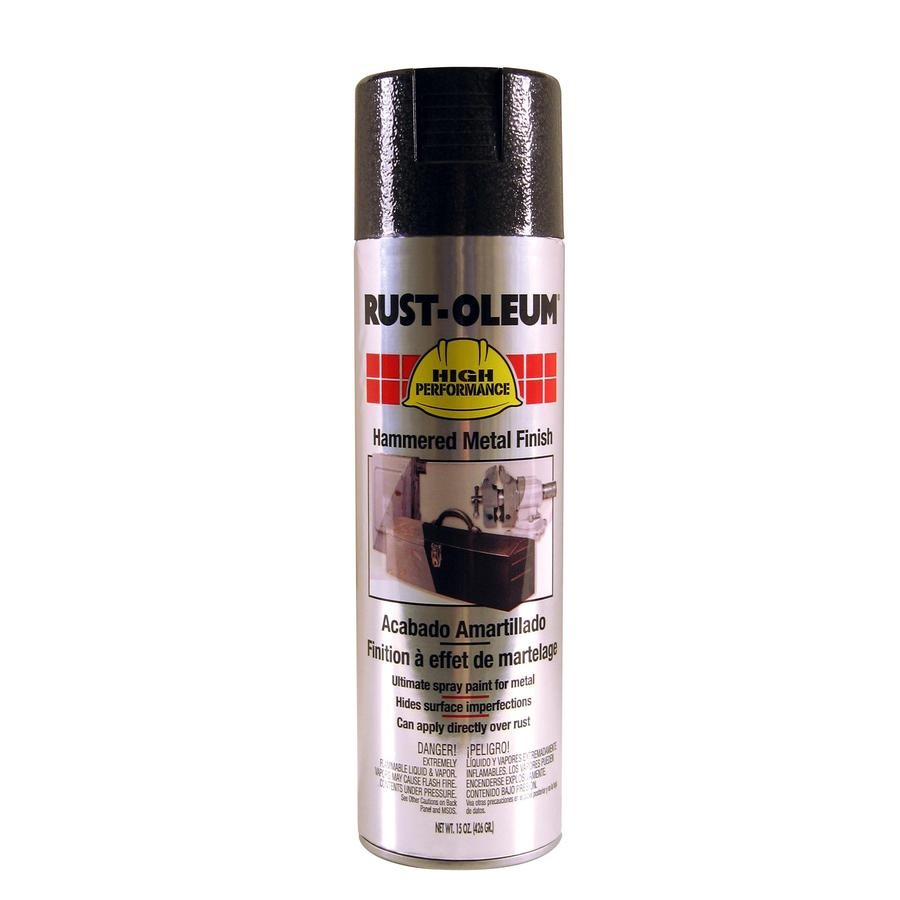 Shop rust oleum high performance black hammered enamel spray paint actual net contents 15 oz Black metal spray paint