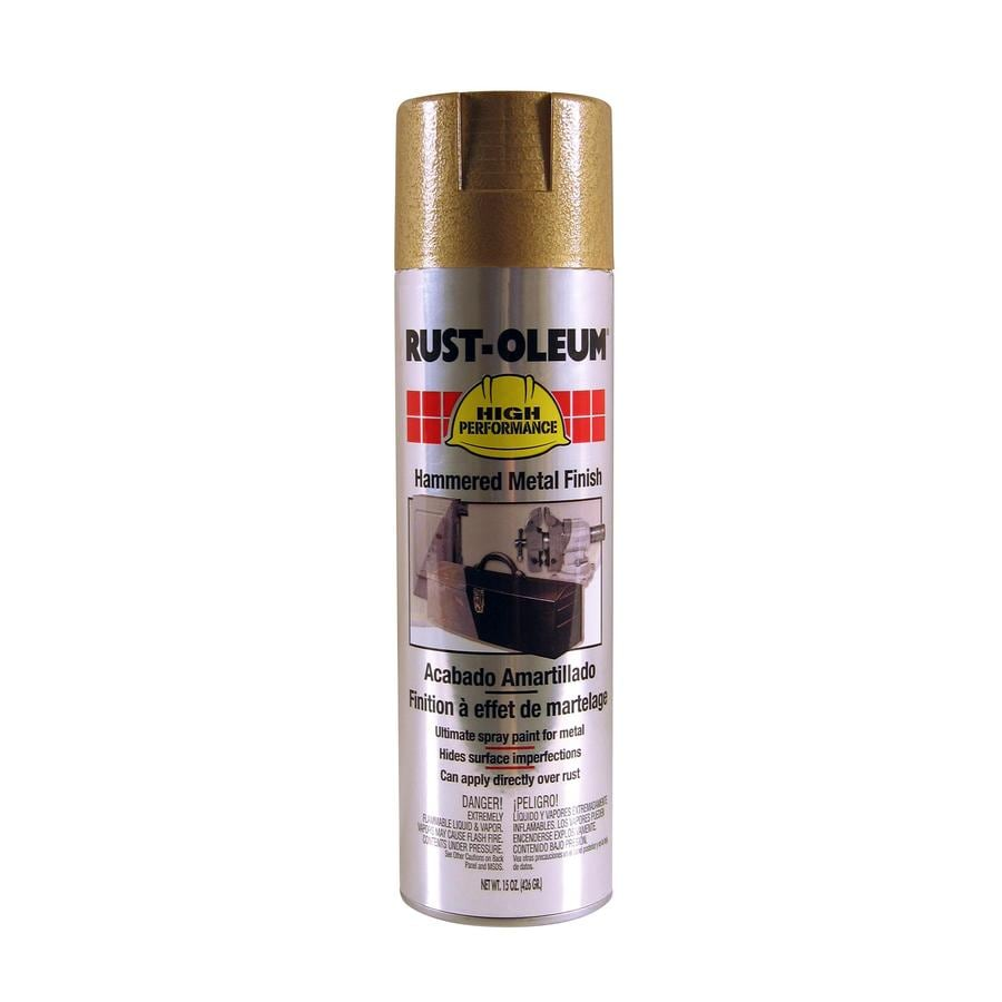Shop Rust Oleum High Performance Gold Hammered Enamel Spray Paint Actual Net Contents 15 Oz