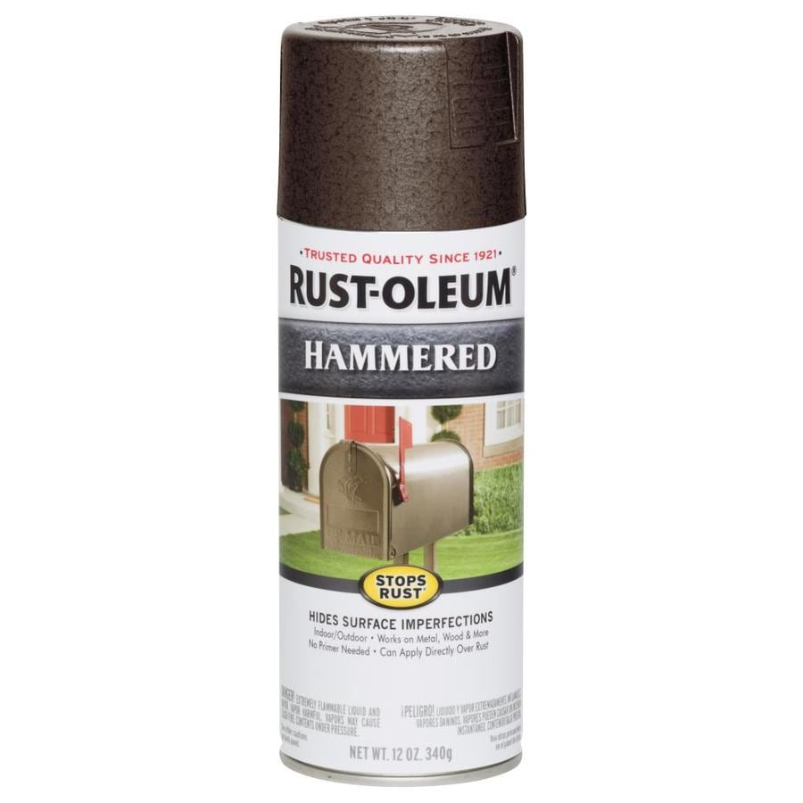 Rust-Oleum Stops Rust Brown Hammered Rust Resistant Enamel Spray Paint (Actual Net Contents: 12-oz)