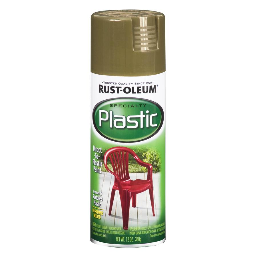 Rust-Oleum Specialty Specialty Paint for Plastic Taupe Fade Resistant Spray Paint (Actual Net Contents: 12-oz)