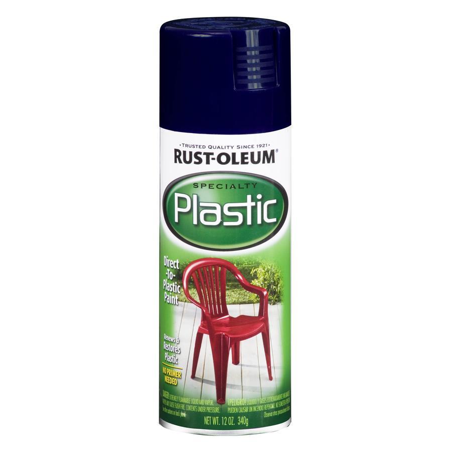 Rust-Oleum Specialty Paint for Plastic Navy Fade Resistant Spray Paint (Actual Net Contents: 12-oz)