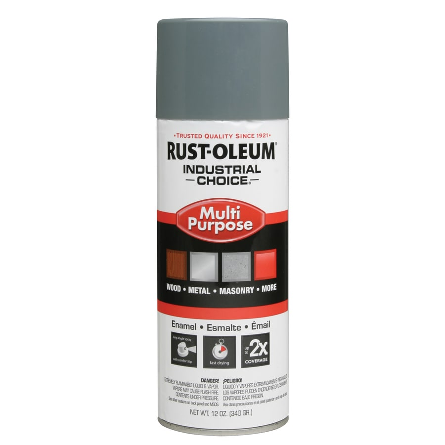 Rust-Oleum Industrial Choice ANSI 49 Medium Light Gray Enamel Spray Paint (Actual Net Contents: 12-oz)