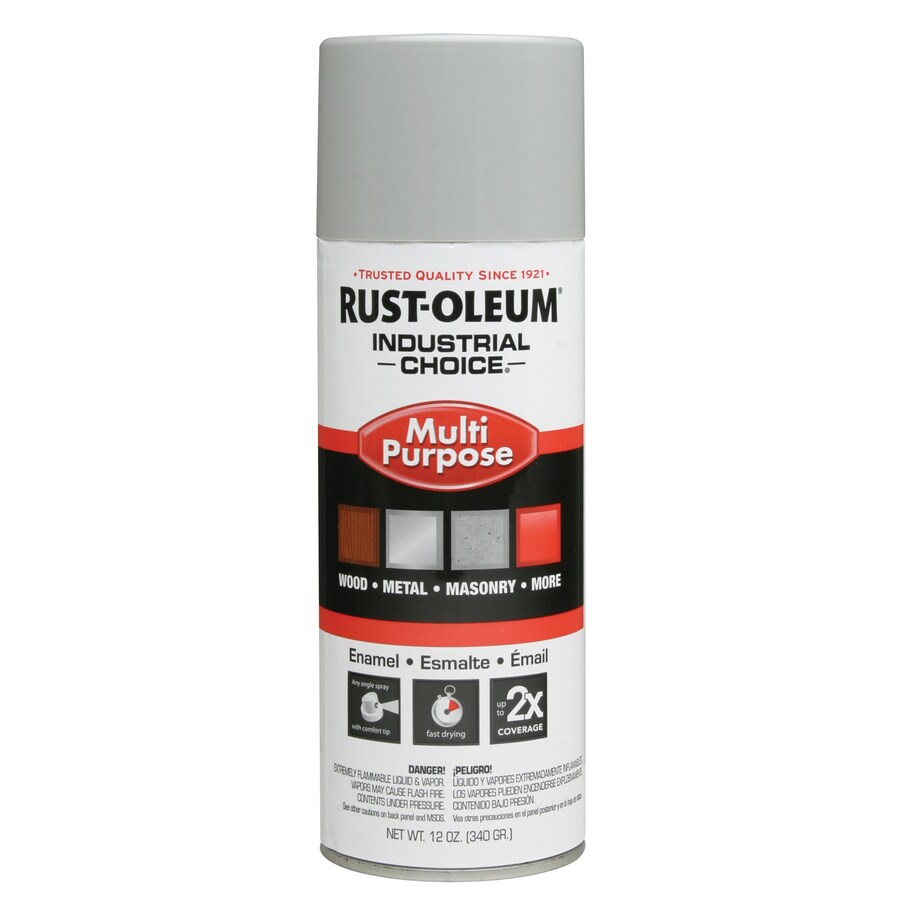 Rust-Oleum Industrial Choice Ansi 70 Light Gray Fade Resistant Enamel Spray Paint (Actual Net Contents: 12-oz)