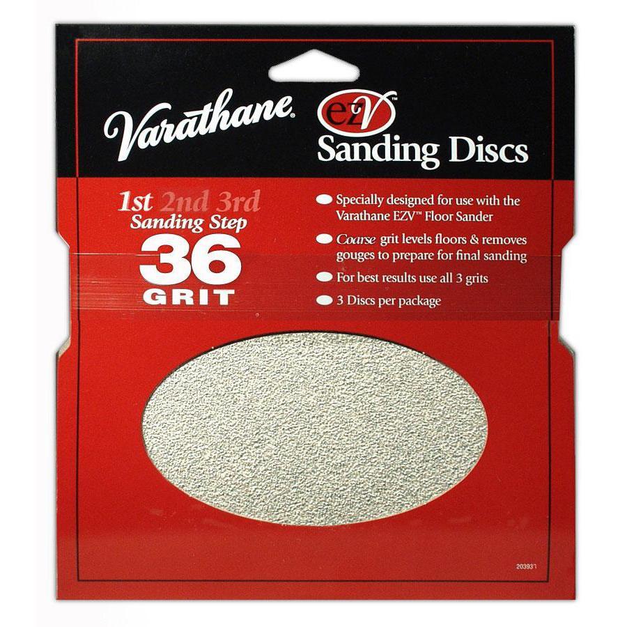 Varathane 10-Pack 12-in W x 0.031-in L 36-Grit Commercial Floor Sanding Sandpaper