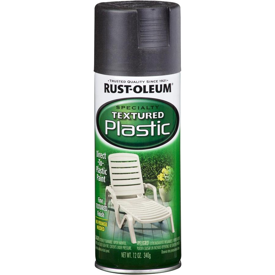 Rust-Oleum Specialty Paint for Plastic Black Textured Fade Resistant Spray Paint (Actual Net Contents: 12-oz)