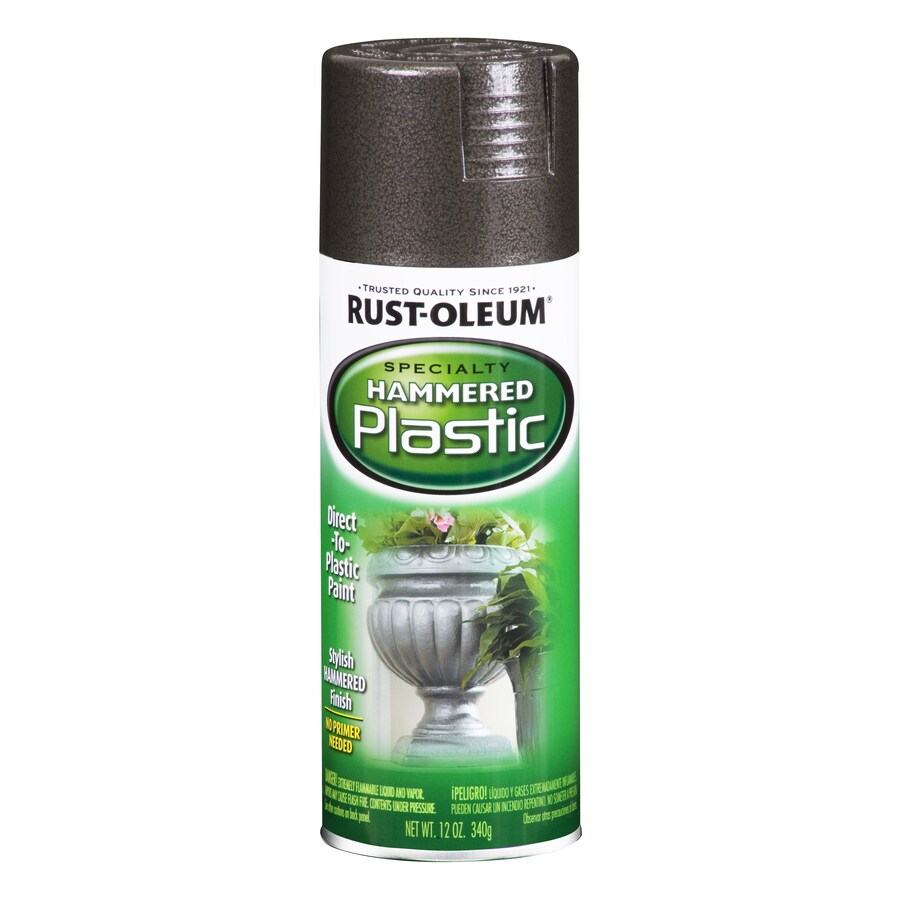 Rust-Oleum Specialty Paint for Plastic Black Hammered Fade Resistant Spray Paint (Actual Net Contents: 12-oz)