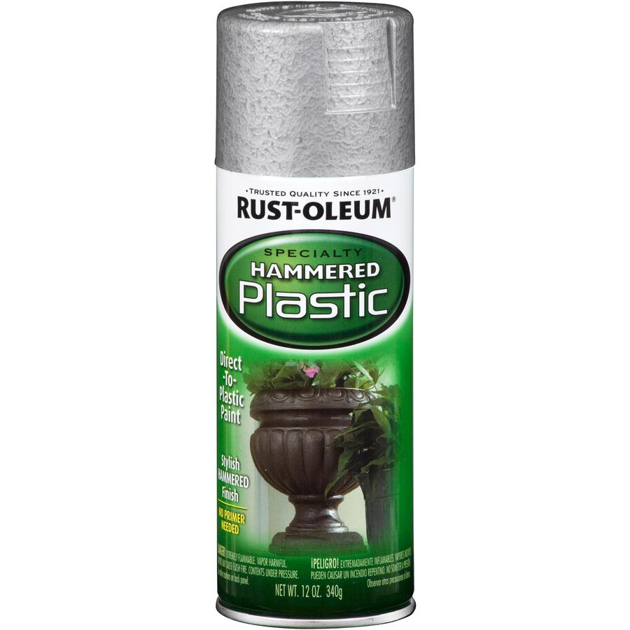 Rust-Oleum Specialty Paint for Plastic Silver Hammered Fade Resistant Spray Paint (Actual Net Contents: 12-oz)