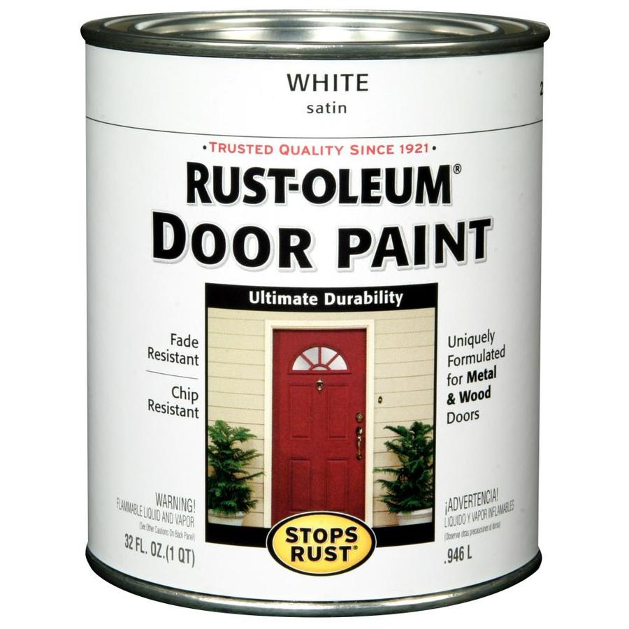 Shop rust oleum stops rust white gloss gloss oil based enamel interior exterior paint actual - Exterior white gloss paint image ...