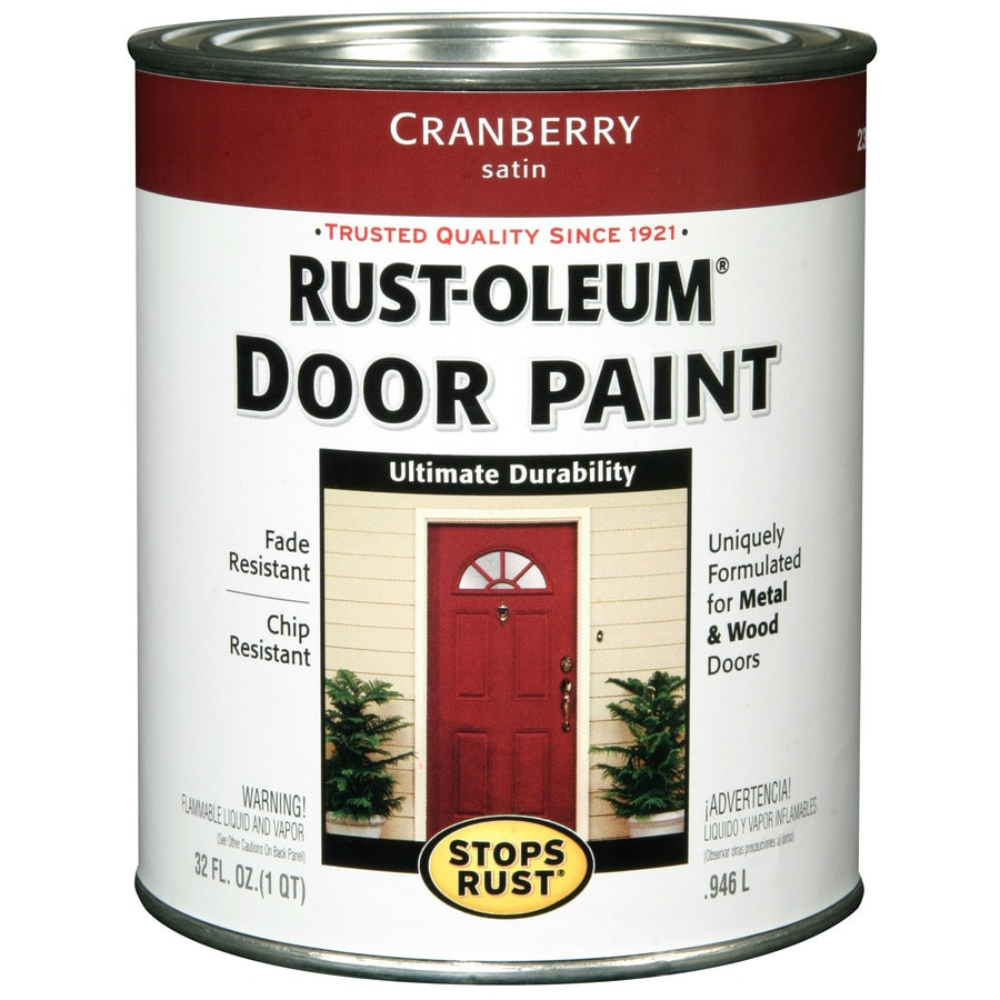 Rust Oleum Stops Satin Cranberry Oil Based Enamel Interior Exterior Paint Actual Net Contents 32 Fl Oz