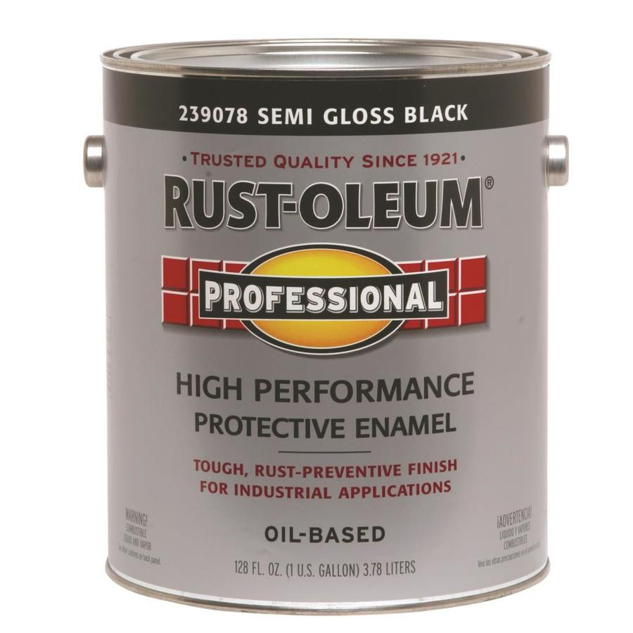 Rust-Oleum Professional Black Semi-Gloss Enamel Interior/Exterior Paint (Actual Net Contents: 128-fl oz)