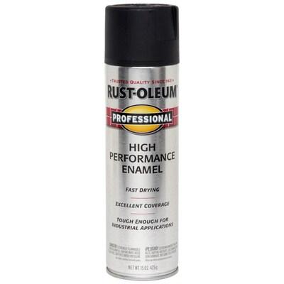 Rust-Oleum Professional Semi-gloss Black Spray Paint (Actual