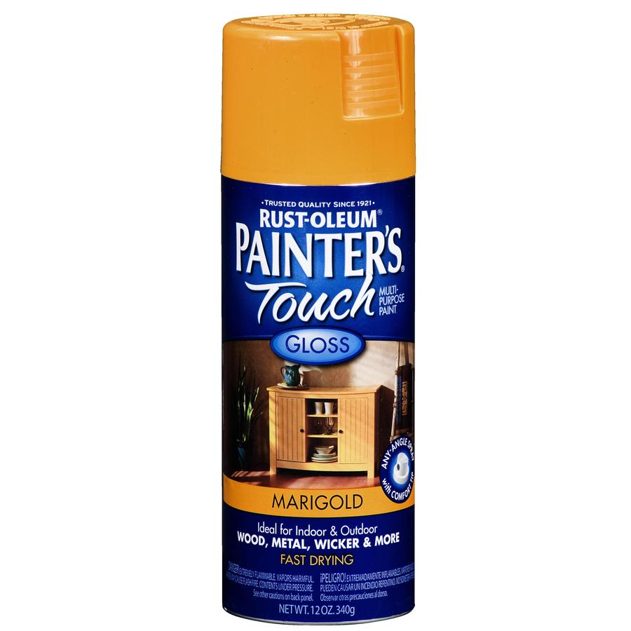 Rust-Oleum Painters Touch Marigold Fade Resistant Enamel Spray Paint (Actual Net Contents: 12-oz)