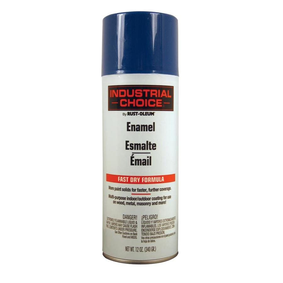 Rust-Oleum Industrial Choice Safety Blue Fade Resistant Enamel Spray Paint (Actual Net Contents: 12 Oz.)