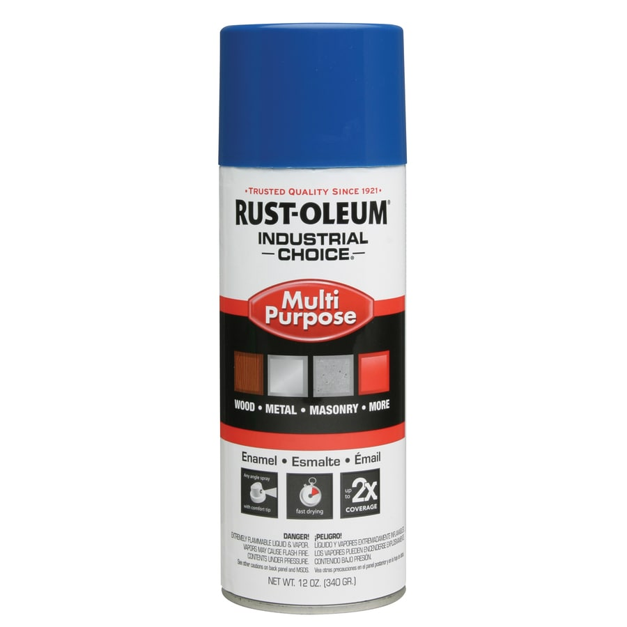 Rust-Oleum Multi-Purpose Industrial Choice True Blue Fade Resistant Enamel Spray Paint (Actual Net Contents: 12-oz)