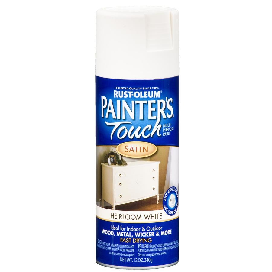 Rust Oleum Painters Touch Heirloom White Fade Resistant Enamel Spray Paint Actual Net Contents 12 Oz
