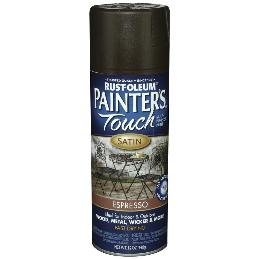 Rust-Oleum Painters Touch Espresso Fade Resistant Enamel Spray Paint (Actual Net Contents: 12-oz)