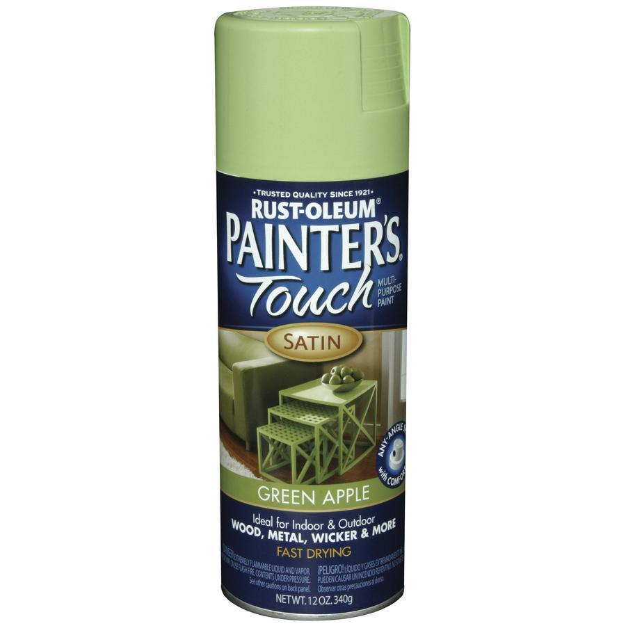 Rust-Oleum Painters Touch Green Apple Fade Resistant Enamel Spray Paint (Actual Net Contents: 12-oz)
