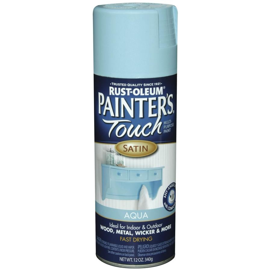Rust-Oleum Painters Touch Aqua Fade Resistant Enamel Spray Paint (Actual Net Contents: 12-oz)