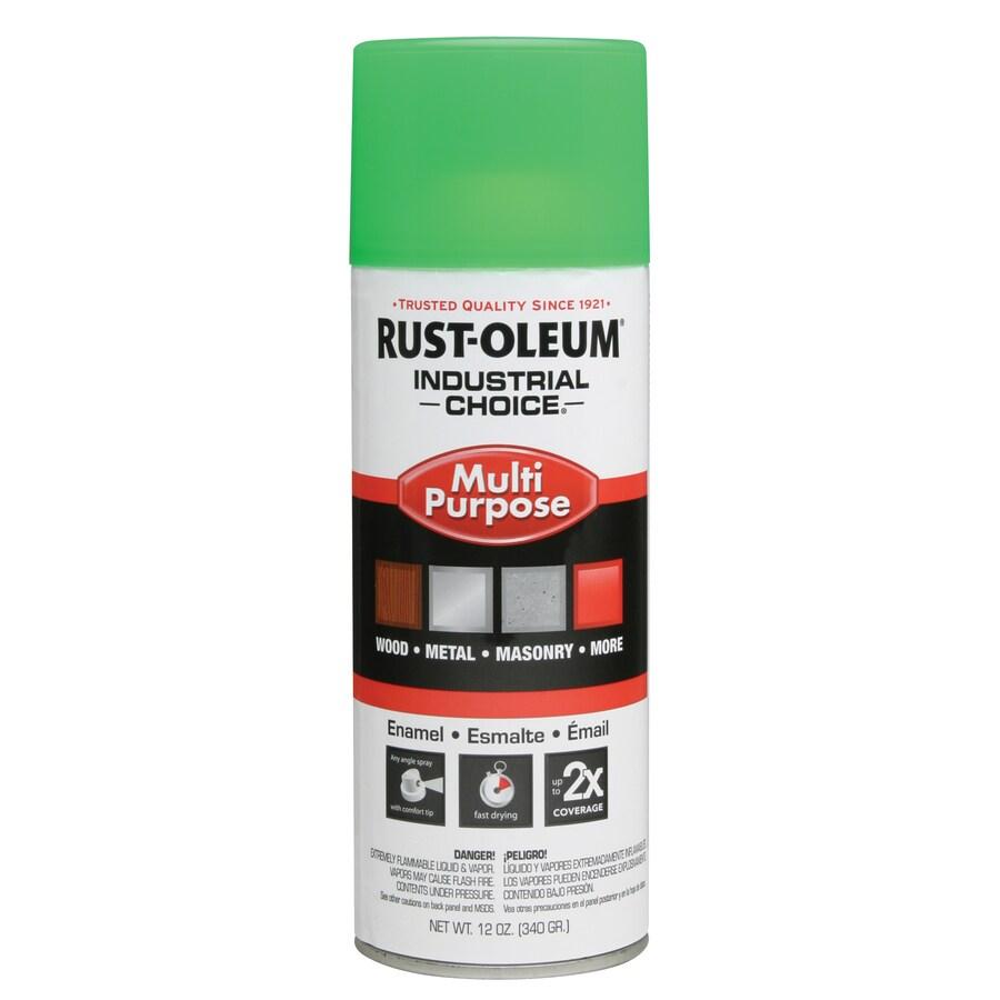 Rust-Oleum Industrial Choice Green Fluorescent Enamel Spray Paint (Actual Net Contents: 12-oz)