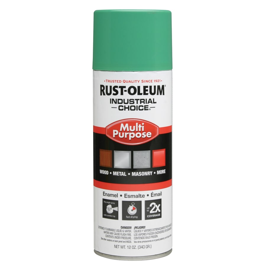 Rust-Oleum Multi-Purpose Industrial Choice Safety Green Fade Resistant Enamel Spray Paint (Actual Net Contents: 12-oz)