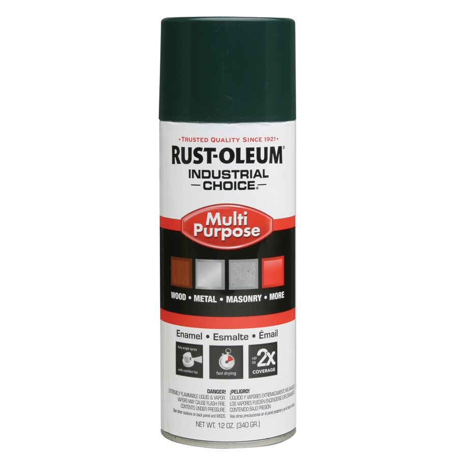 Rust-Oleum Industrial Choice Hunter Green Enamel Spray Paint (Actual Net Contents: 12-oz)