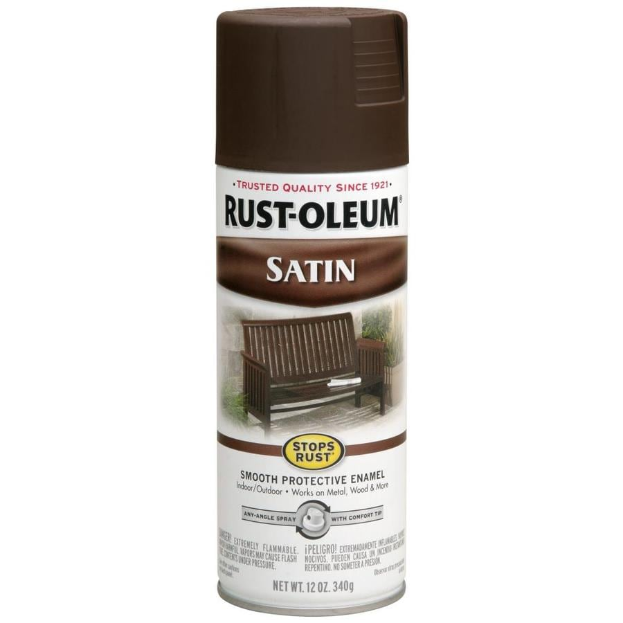 Shop Rust Oleum Stops Rust Dark Brown Enamel Spray Paint Actual Net Contents 12 Oz At