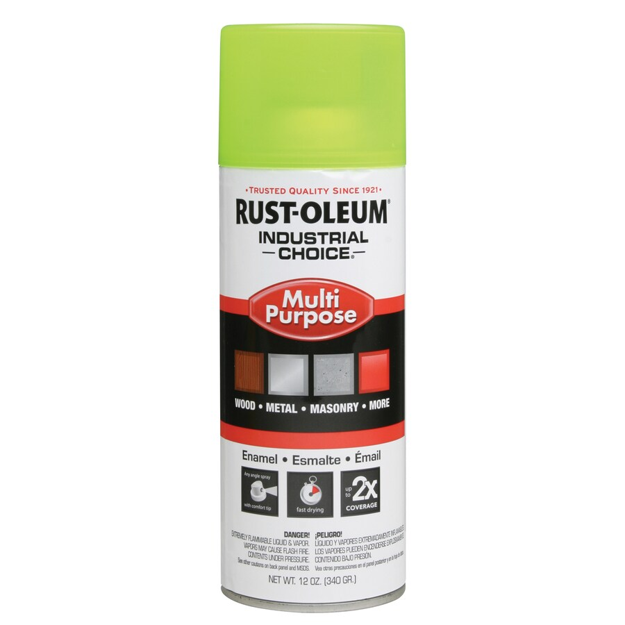 Rust-Oleum Industrial Choice Yellow Fluorescent Enamel Spray Paint (Actual Net Contents: 12-oz)