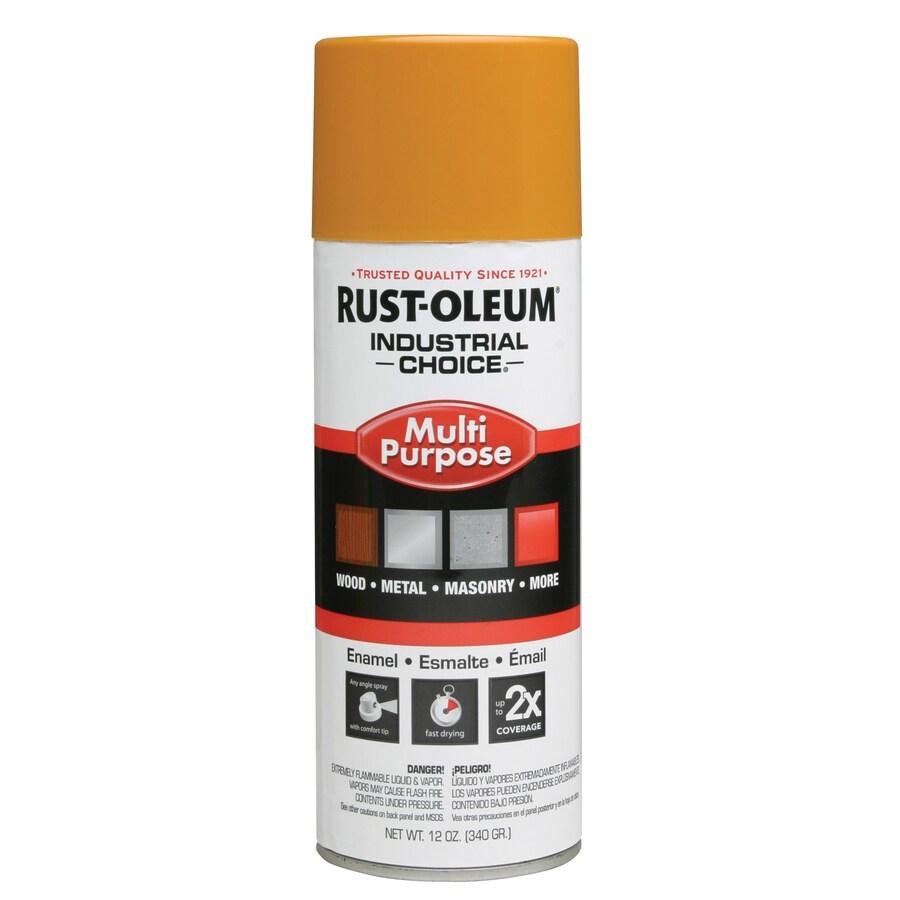 Rust-Oleum Industrial Choice School Bus Yellow Fade Resistant Enamel Spray Paint (Actual Net Contents: 12 Oz.)