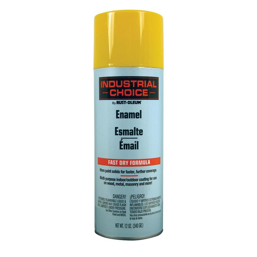 Rust-Oleum Industrial Choice Safety Yellow Enamel Spray Paint (Actual Net Contents: 12-oz)