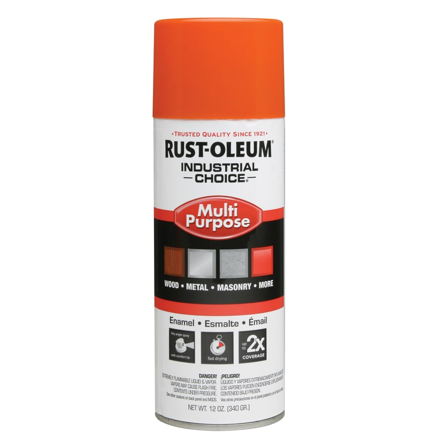 Rust-Oleum Industrial Choice Safety Orange Fade Resistant Enamel Spray Paint (Actual Net Contents: 12-oz)
