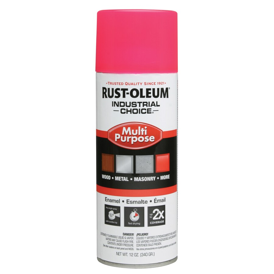 Rust-Oleum Industrial Choice Pink Fluorescent Enamel Spray Paint (Actual Net Contents: 12-oz)
