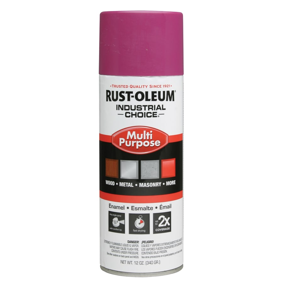 Rust-Oleum Industrial Choice Safety Purple Enamel Spray Paint (Actual Net Contents: 12-oz)