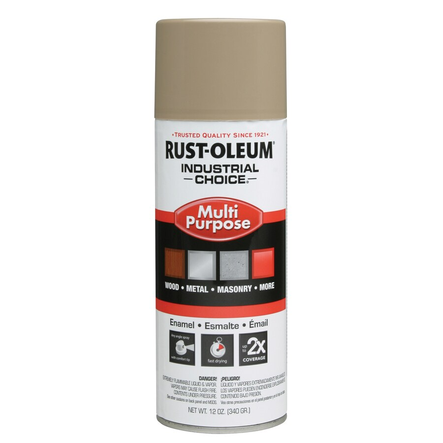 Rust-Oleum Industrial Choice Beige Fade Resistant Enamel Spray Paint (Actual Net Contents: 12-oz)