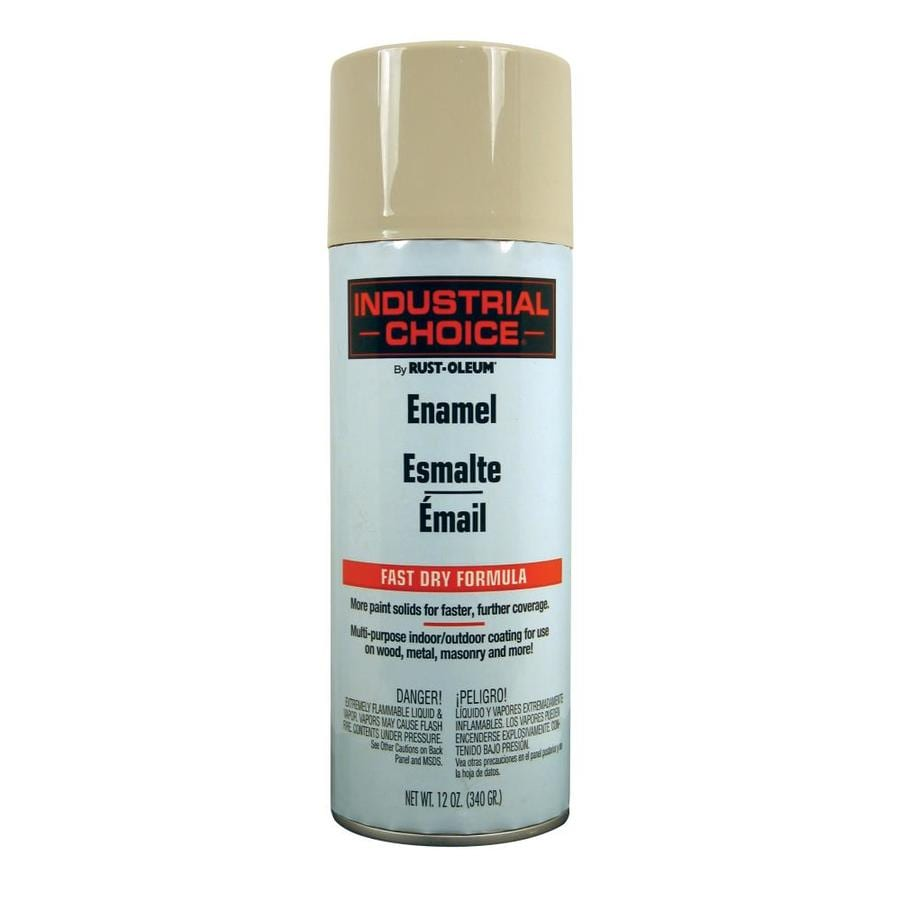 Rust-Oleum Industrial Choice Almond Fade Resistant Enamel Spray Paint (Actual Net Contents: 12-oz)