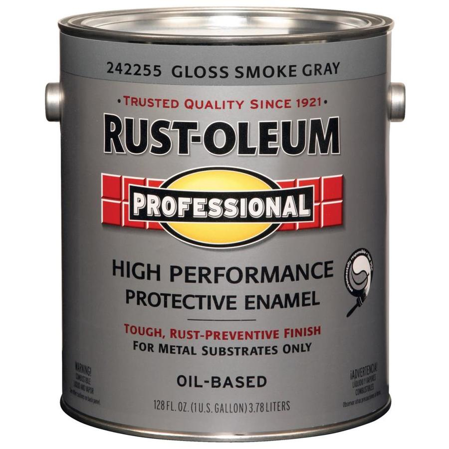 Rust-Oleum Professional Smoke Gray/Gloss Enamel Interior/Exterior Paint (Actual Net Contents: 128-fl oz)