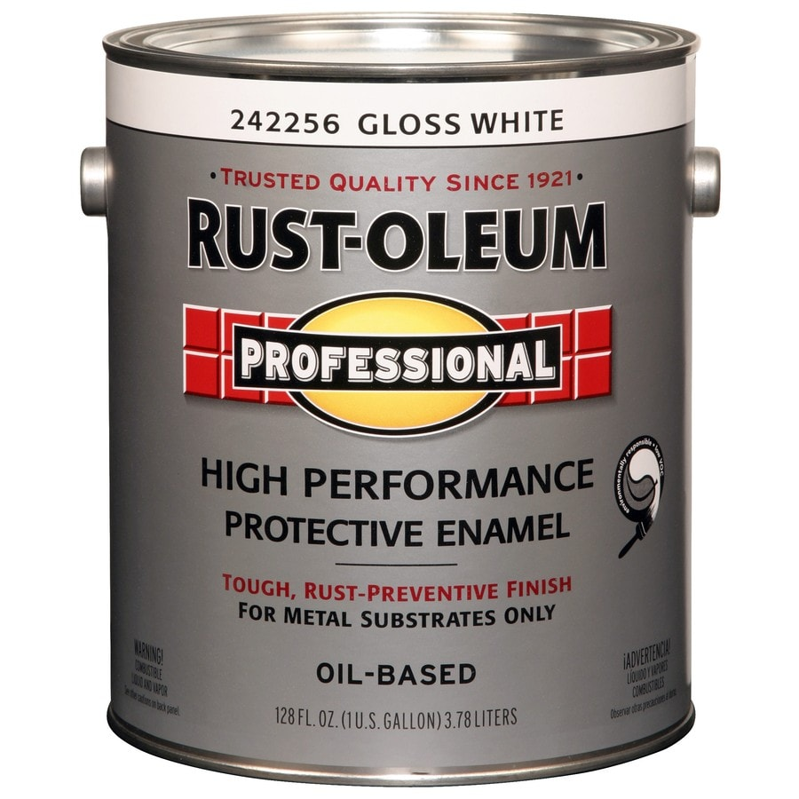 Shop Rust Oleum Professional White Gloss Enamel Interior Exterior Paint Actual Net Contents