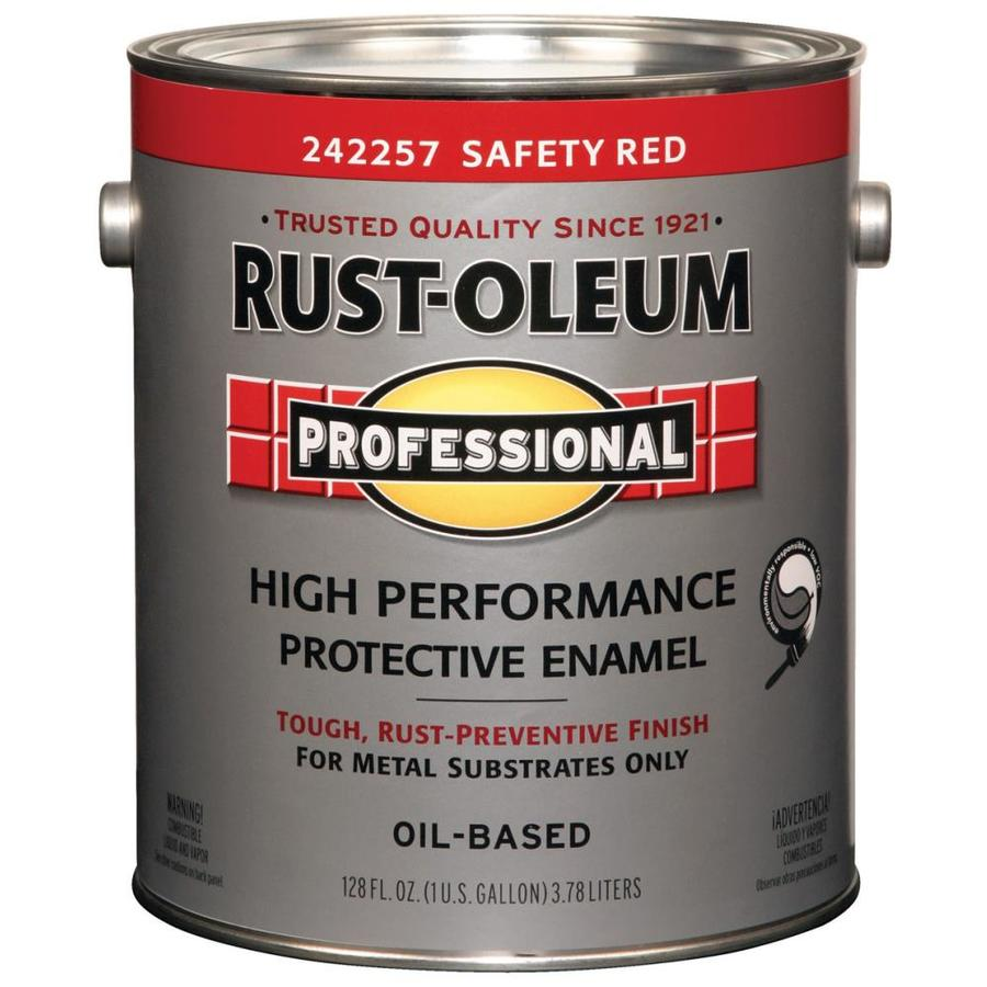 Rust-Oleum Professional Safety Red/Gloss Enamel Interior/Exterior Paint (Actual Net Contents: 128-fl oz)