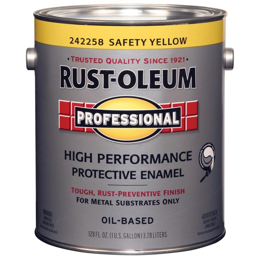 Shop Rust Oleum Professional Safety Yellow Gloss Oil Based Enamel Interior Exterior Paint