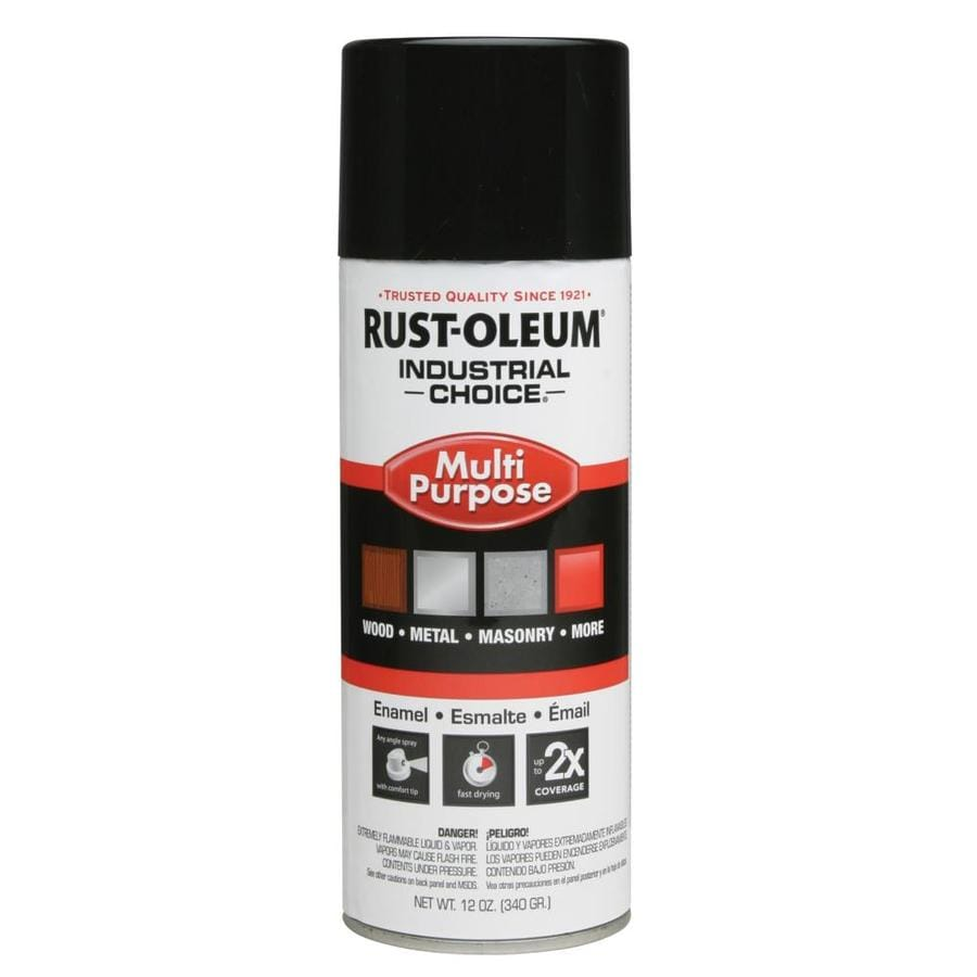 Rust-Oleum Industrial Choice Black Enamel Spray Paint (Actual Net Contents: 12-oz)