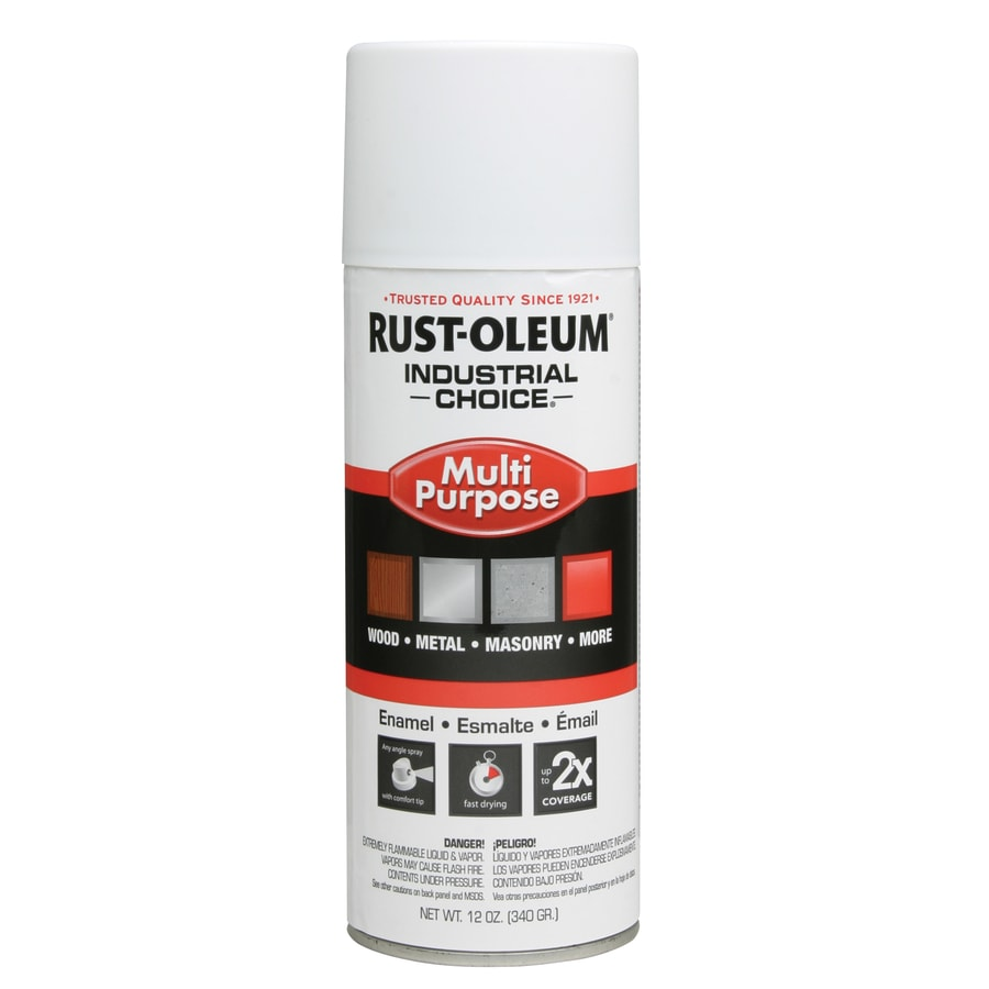 Rust-Oleum Industrial Choice White Primer Fade Resistant Enamel Spray Paint (Actual Net Contents: 12-oz)