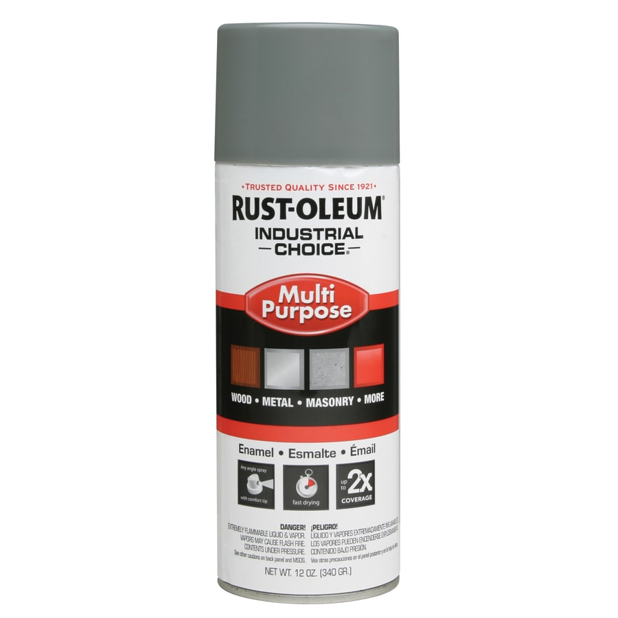 Rust-Oleum Industrial Choice Smoke Gray Fade Resistant Enamel Spray Paint (Actual Net Contents: 12-oz)