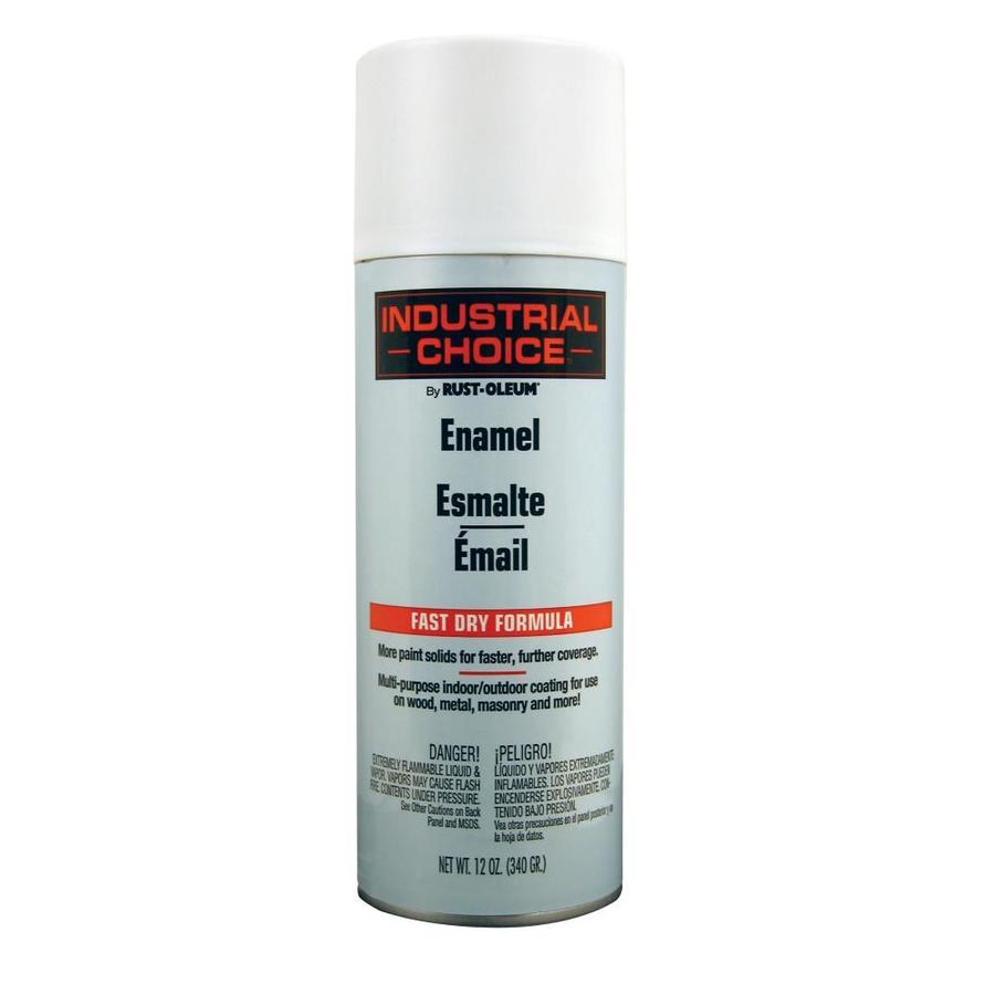 Rust-Oleum Industrial Choice Flat White Fade Resistant Enamel Spray Paint (Actual Net Contents: 12-oz)