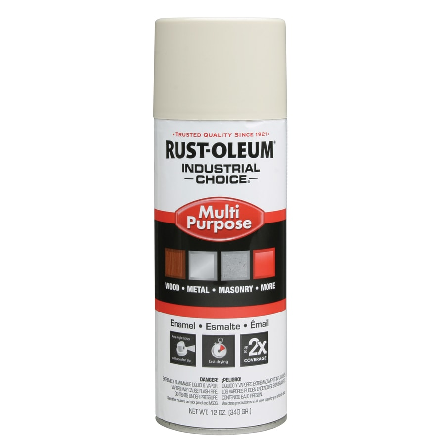 Shop Rust Oleum Industrial Choice Antique White Enamel Spray Paint Actual Net Contents 12 Oz