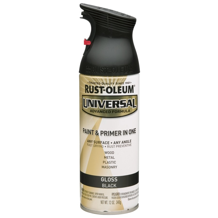 Shop rust oleum universal black enamel spray paint actual net contents 12 oz at Black spray paint