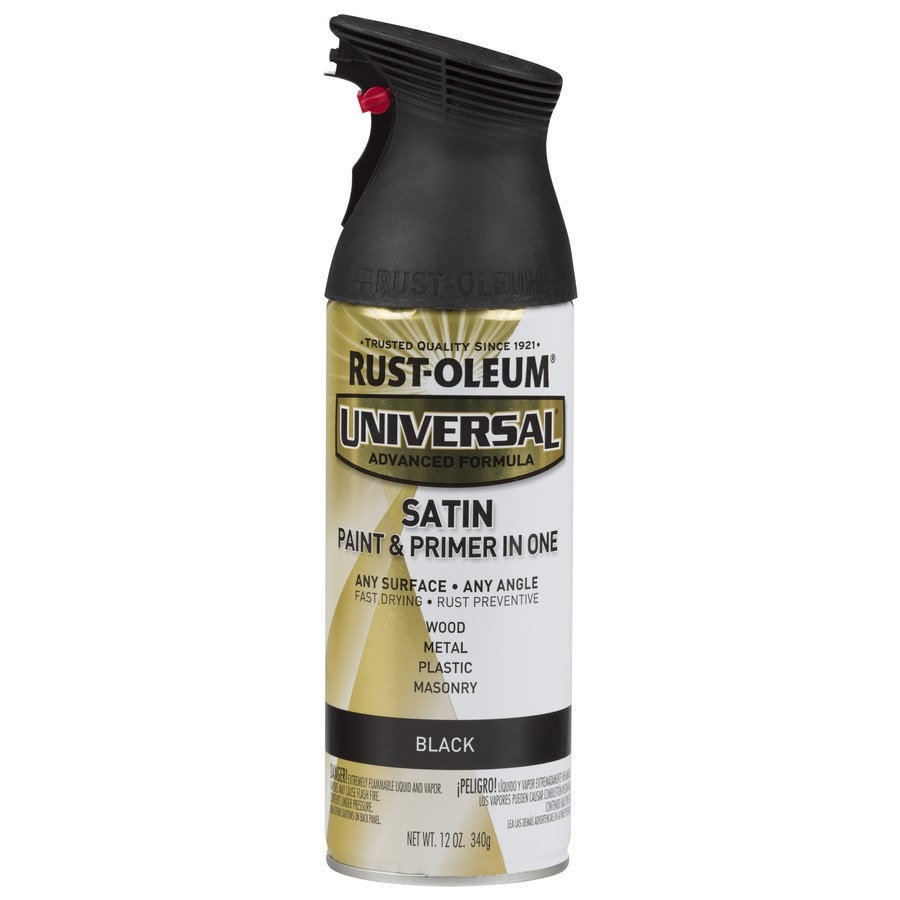 Rust-Oleum Universal Black Rust Resistant Enamel Spray Paint (Actual Net Contents: 12-oz)