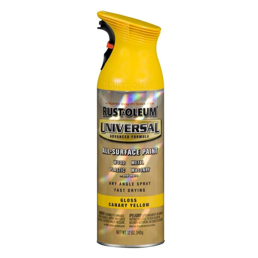 Rust-Oleum Universal Canary Yellow Enamel Spray Paint (Actual Net Contents: 12-oz)