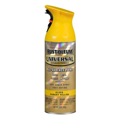 Rust Oleum Universal Gloss Canary Yellow Spray Paint And