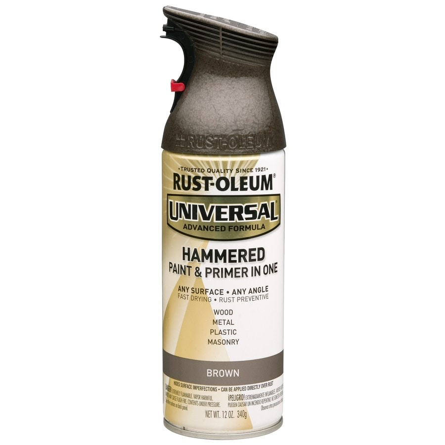 Rust-Oleum Universal Brown Hammered Rust Resistant Enamel Spray Paint (Actual Net Contents: 12-oz)